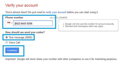 Form pengiriman kode verifikasi