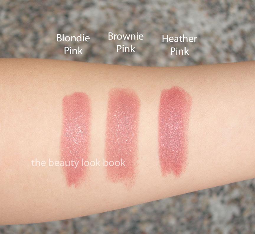 Bobbi Brown Blondie Pink, Brownie Pink & Heather Pink Lipsticks ...