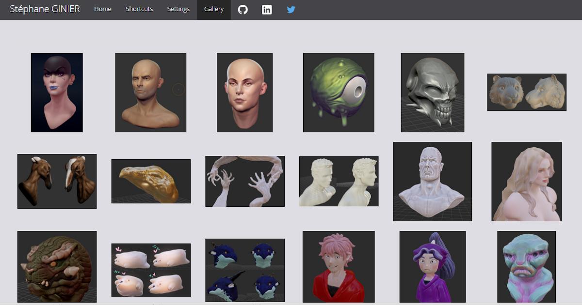 免費 3D 軟體線上中文版 SculptGL 輕鬆 3D 列印建模