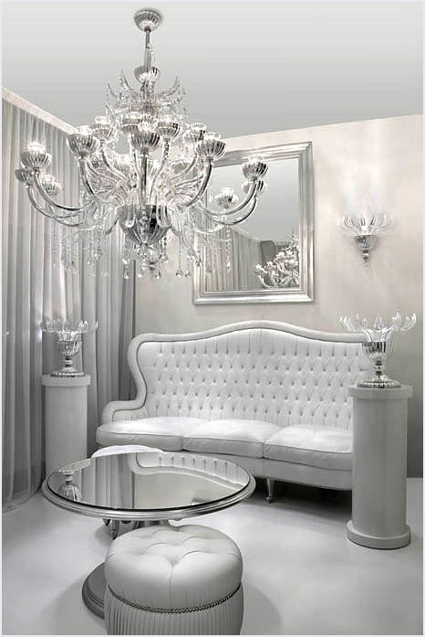 Style decor more mirrored furniture adds instant glam - Silver living room designs ...