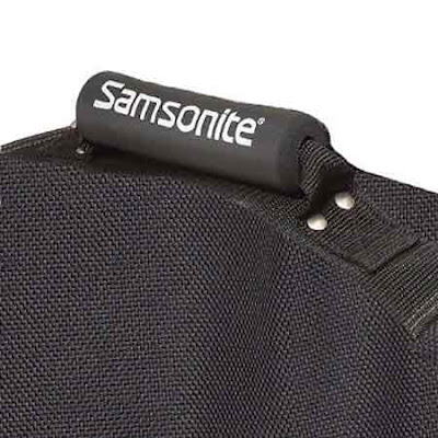 Black fashionable Samsonite golf trunk organizer kit sports travel-trunk finished durable polyester