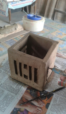 Square clay box