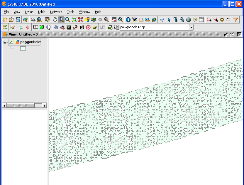 how to delete section of a polygon in qgis