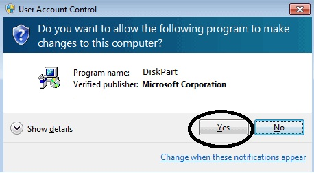 Select Yes