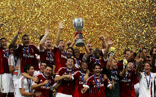 AC Milan 2012 Italy Cup Winner Celebrate the Victory HD Wallpaper