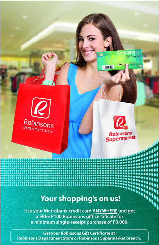 Metrobank Credit Card: Your shopping's on us!