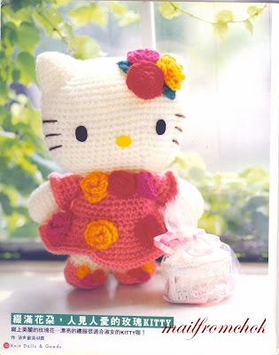 Amigurumi De Hello Kitty : Amigurumis en un Click: Patron en castellano de Hello Kitty