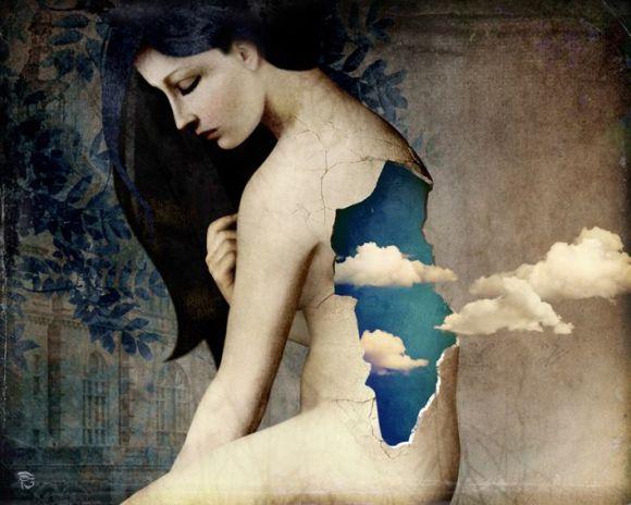 Christian Schloe ilustração digital surreal onírica sonhos A espera pela liberdade