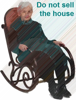 Ghostly grandmother in a rocking chair