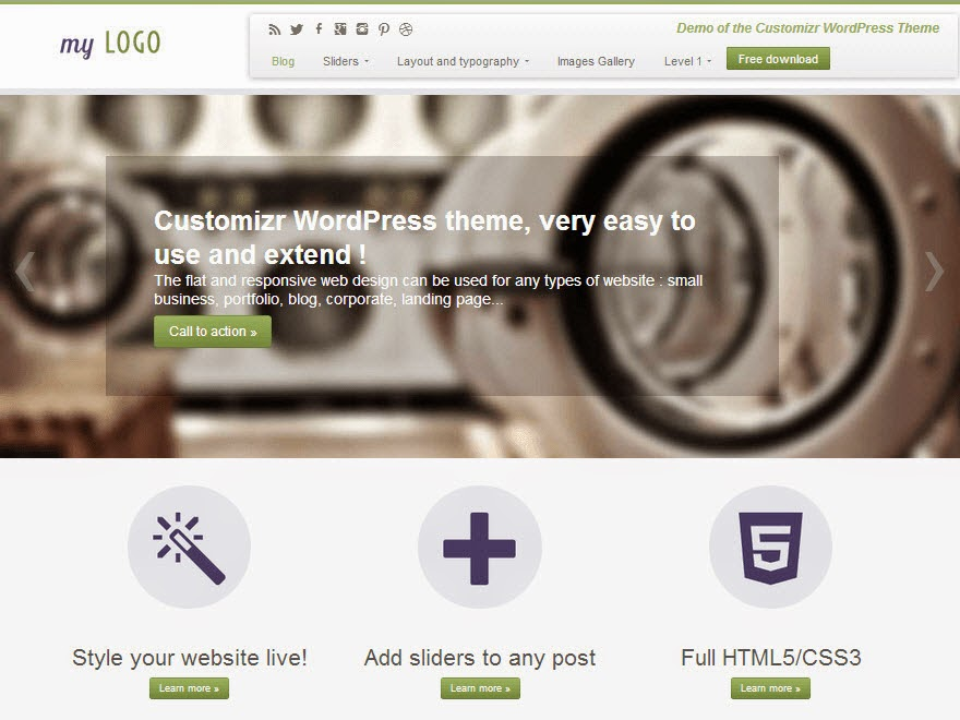 Customizer Free Portfolio WordPress theme