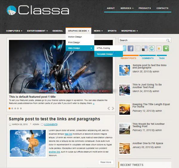 Classa WordPress Theme