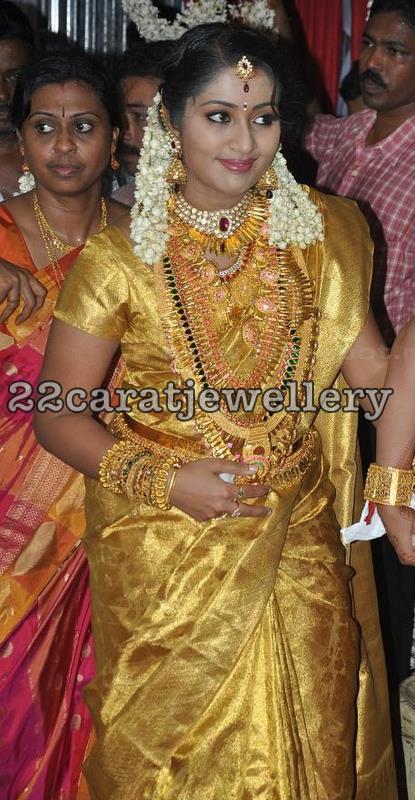 navya nair bridal jewelry jewellery designs