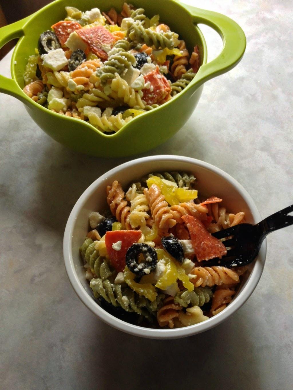 Pepperoni & Feta Pasta Salad - www.soliloquoffood.com