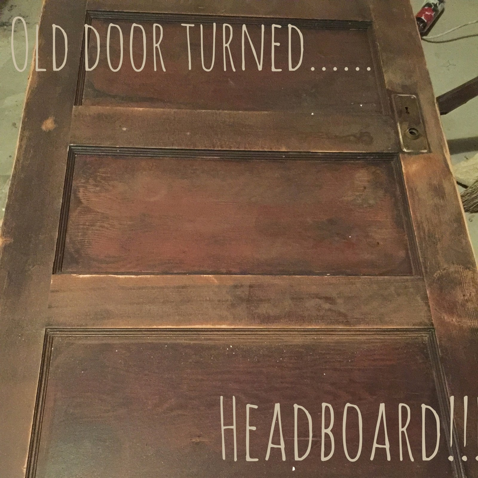Start At Home Old Door Turned Headboard