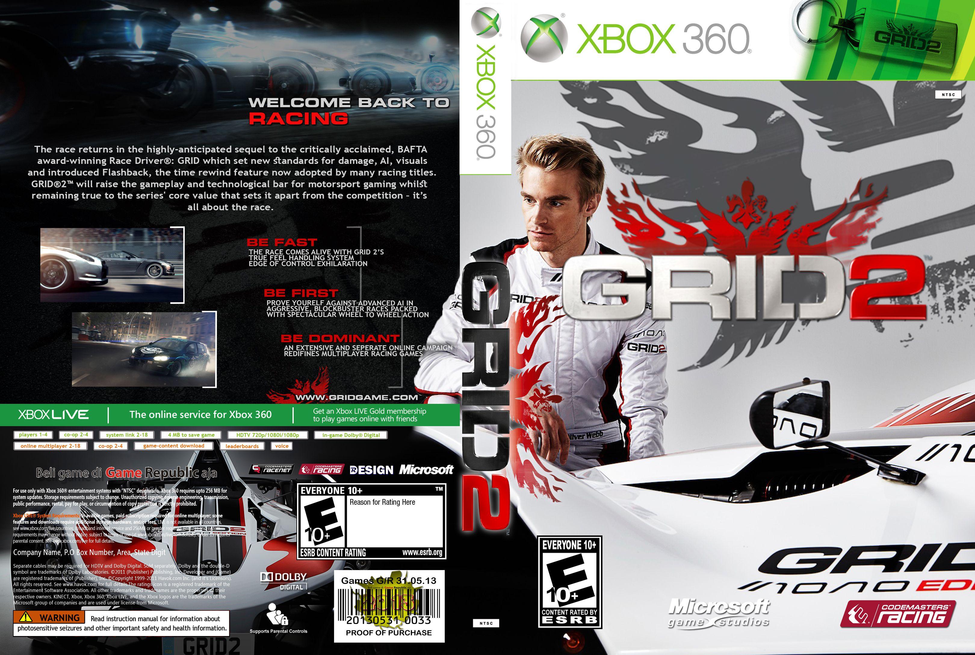 Capa GRID 2 Xbox 360