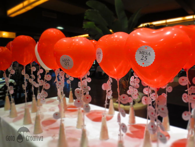 seating plan globos corazones Gota Creativa