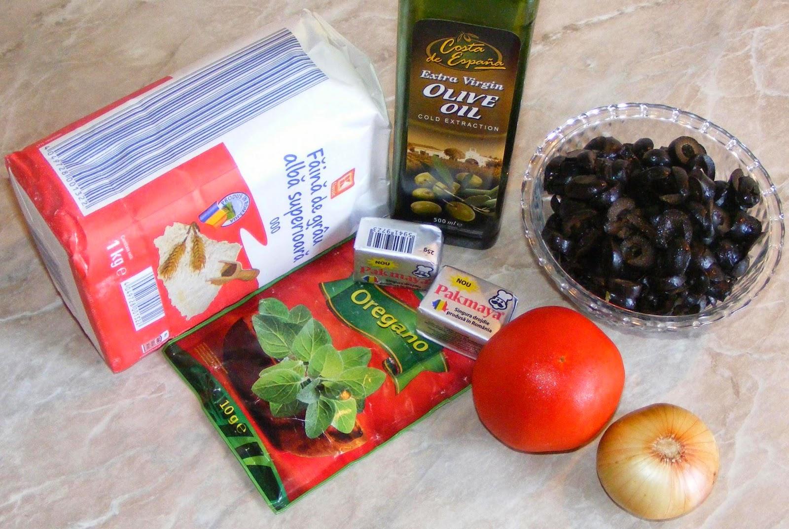 ingrediente focaccia cu rosii si masline, ce ne trebuie pentru a prepara focaccia, de ce avem nevoie pentru a prepara focaccia italiana buna, ingrediente focaccia italiana,