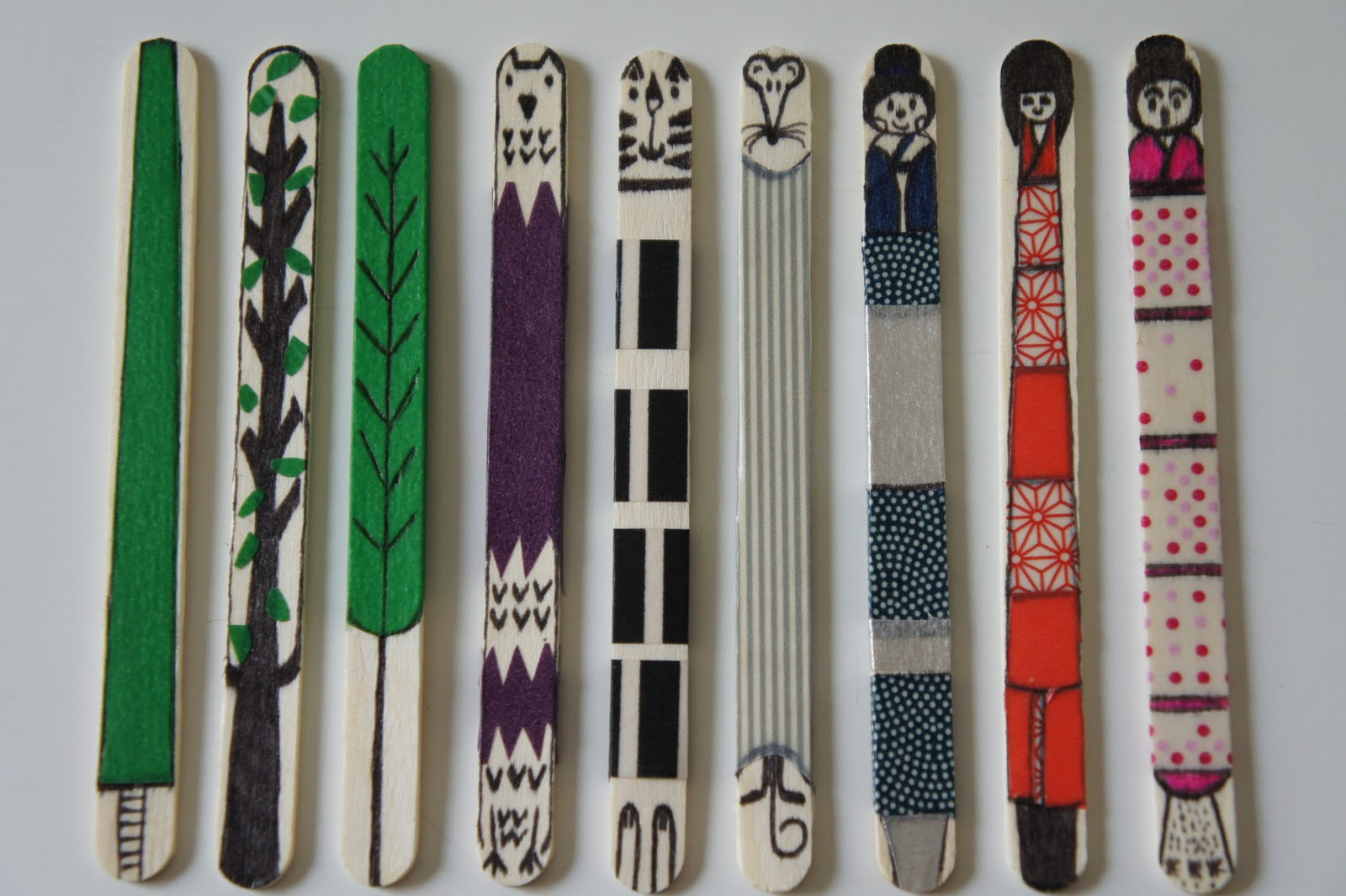 Ideas from the forest ice cream sticks for Designs using ice cream sticks