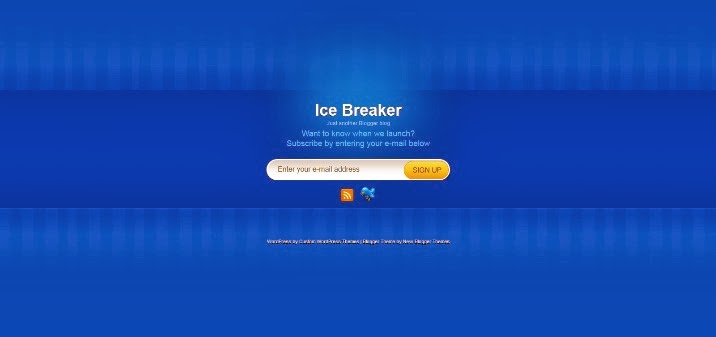 Ice Breaker Blogger Template