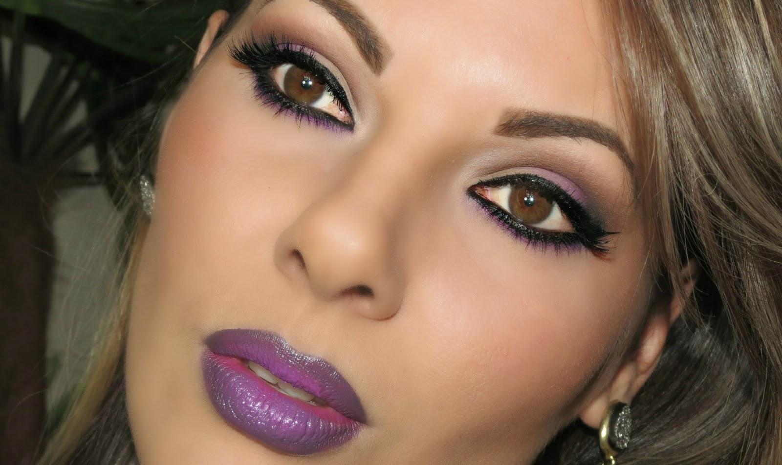 Tutorial Maquiagem em tons de roxo
