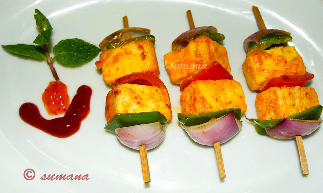 easy recipe to cook paneer sashlik a delicious veg starter at home