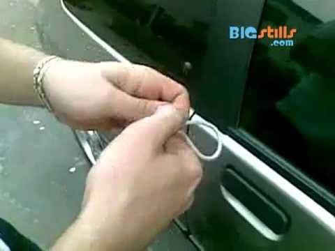 How to Unlock Your Car with Thin Rope or String (slipknot Technique)