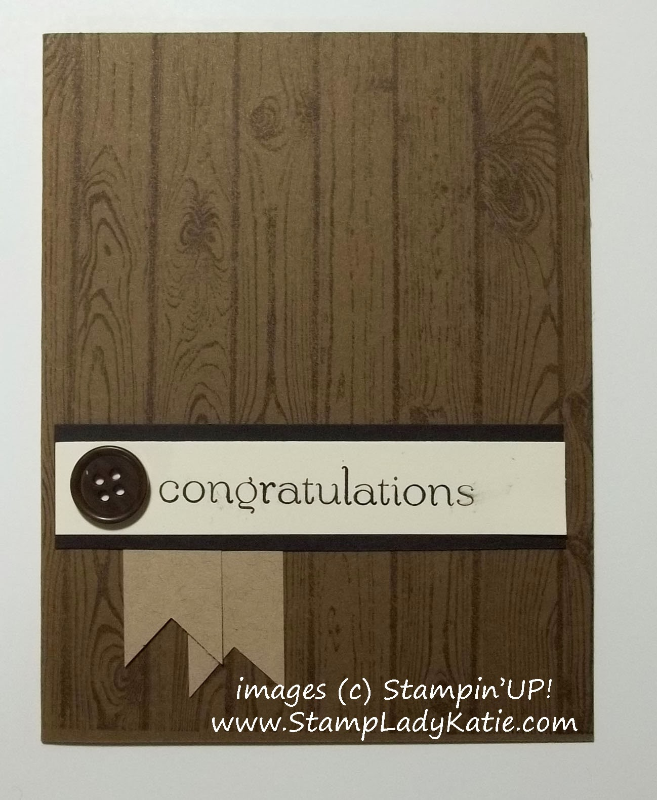 Masculine Card made with Stampin'UP!'s Woodgrain Background Stamp