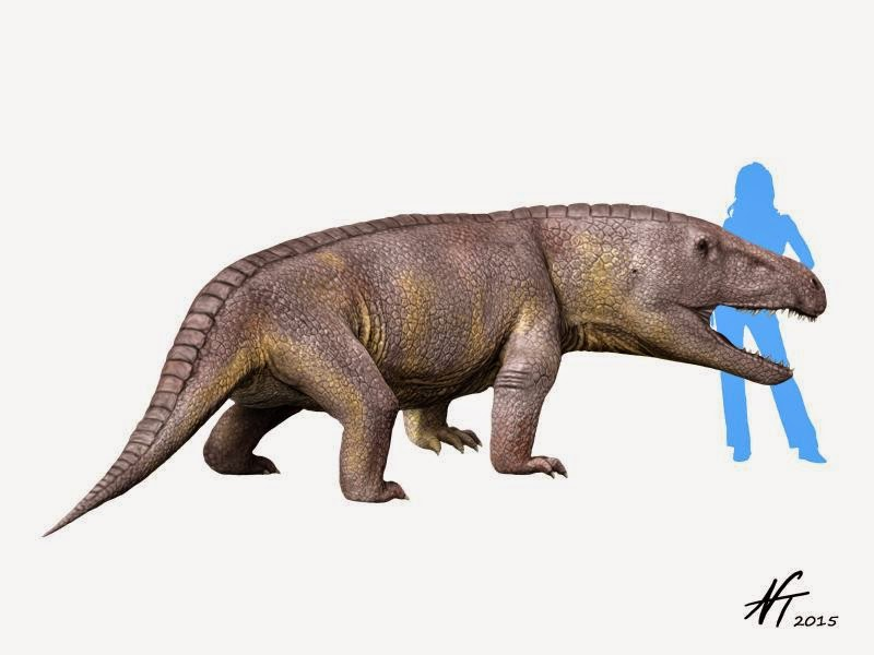 Triassic Animals List One big Triassic land