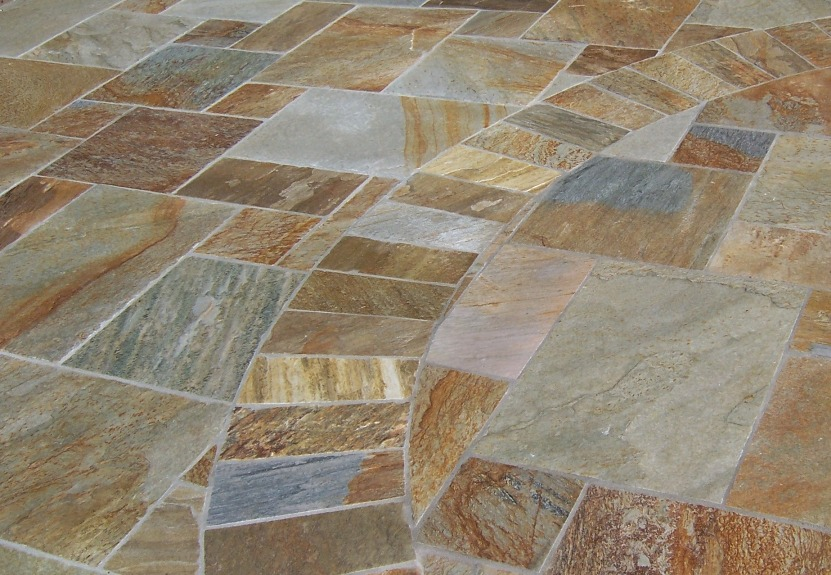 Quartzite Tile The 2 Minute Gardener:...