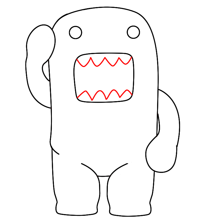 domo kun coloring pages - photo#9
