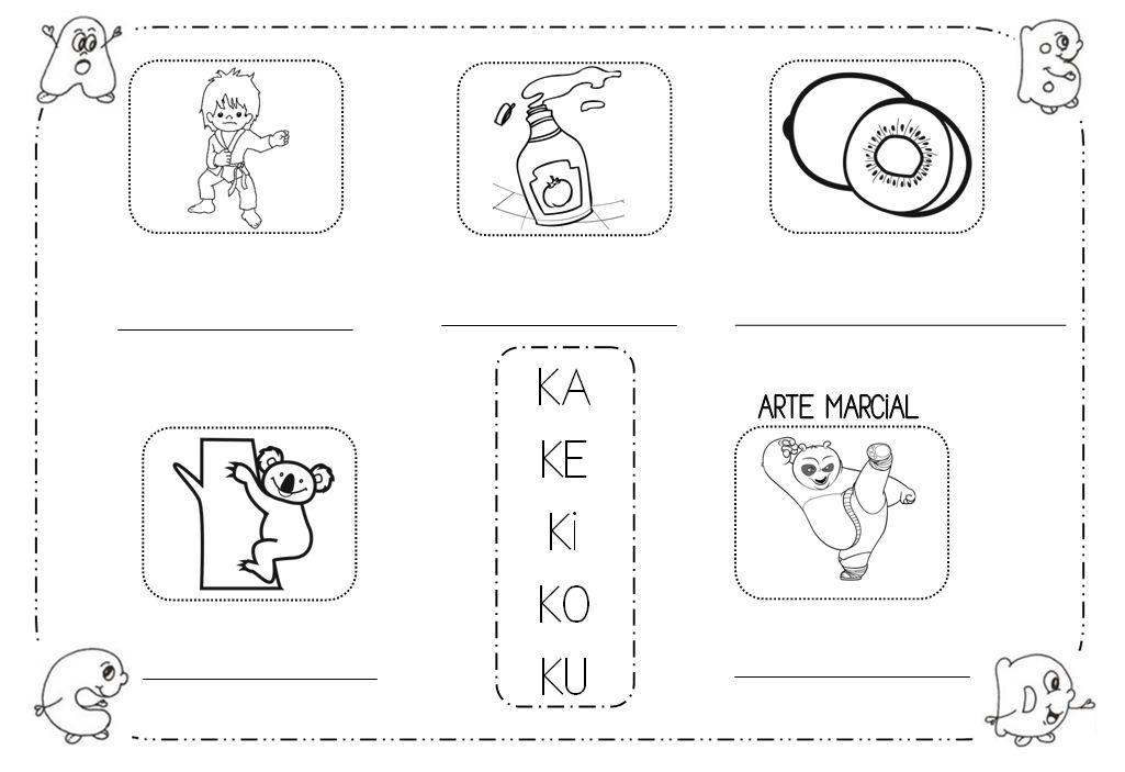 Único Letra K Para Colorear Para Niños En Edad Preescolar Modelo ...