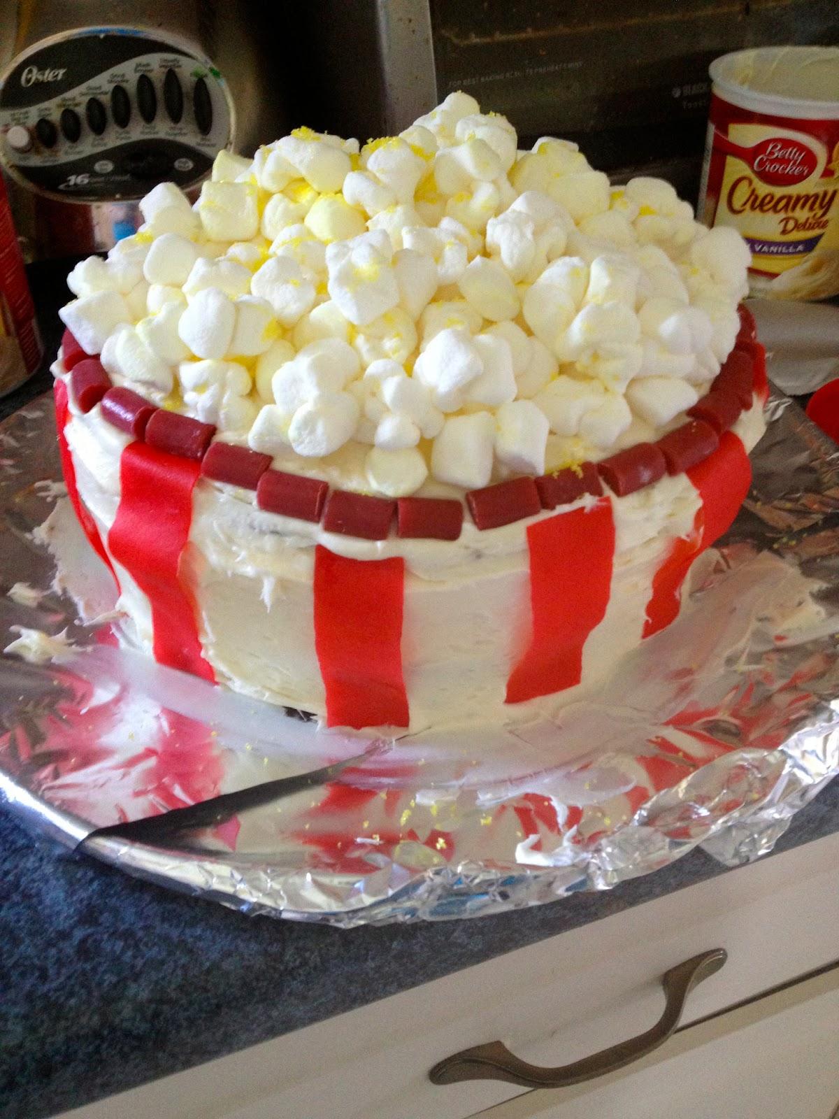 Whatcha Eatin Movie Popcorn Birthday Cake
