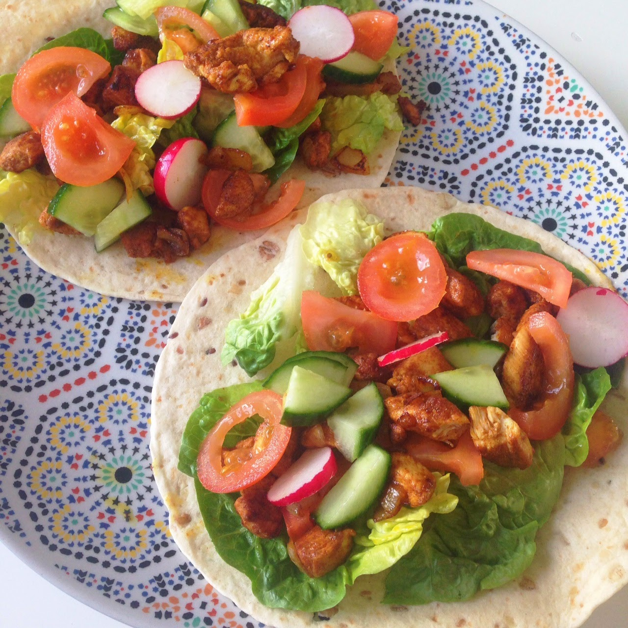 Healthy Living In Heels Chicken Kebab Wraps