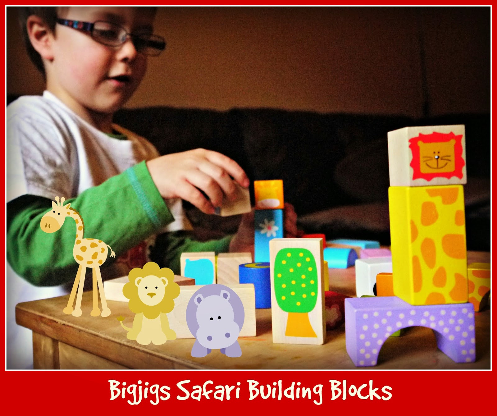 Bigjigs Safari Building Blocks
