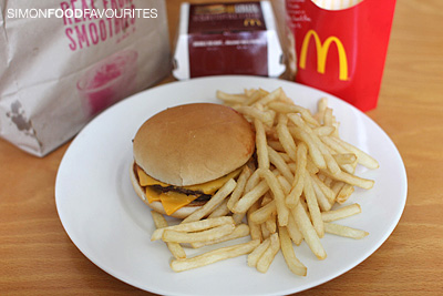 simon food favourites mcdonald s double cheeseburger for  11 2012