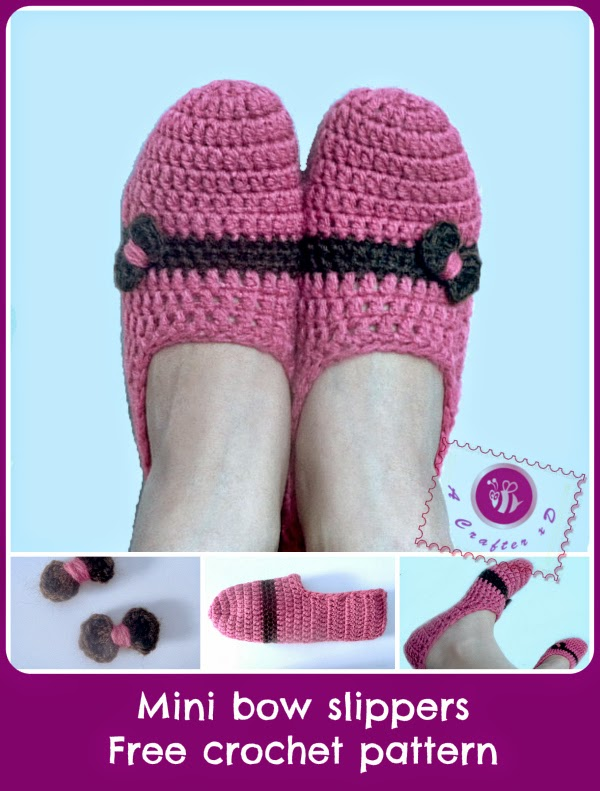 crochet slippers, free crochet slippers pattern