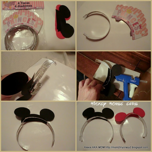 Running away i 39 ll help you pack mickey mouse party for Black headbands dollar tree