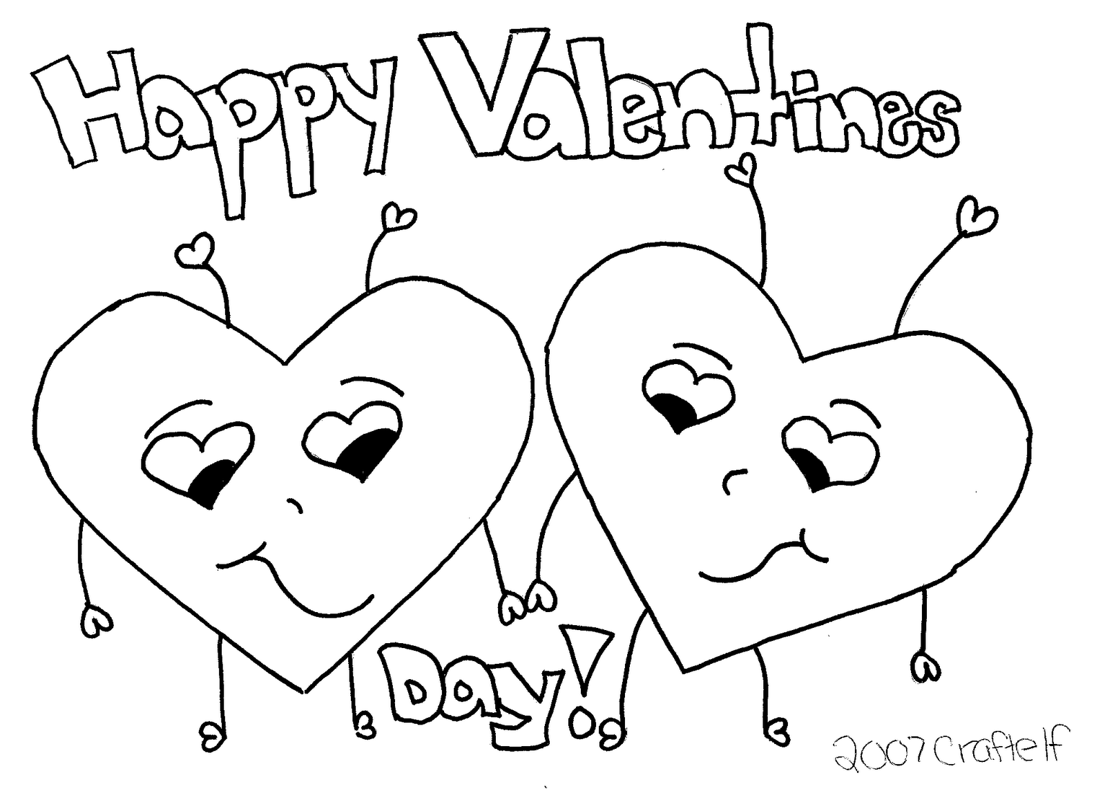 Valentines Day Coloring Pictures