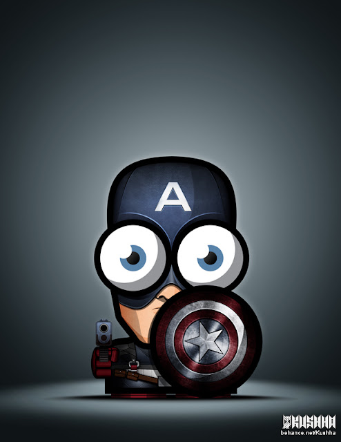 Big Eyed Superheroes