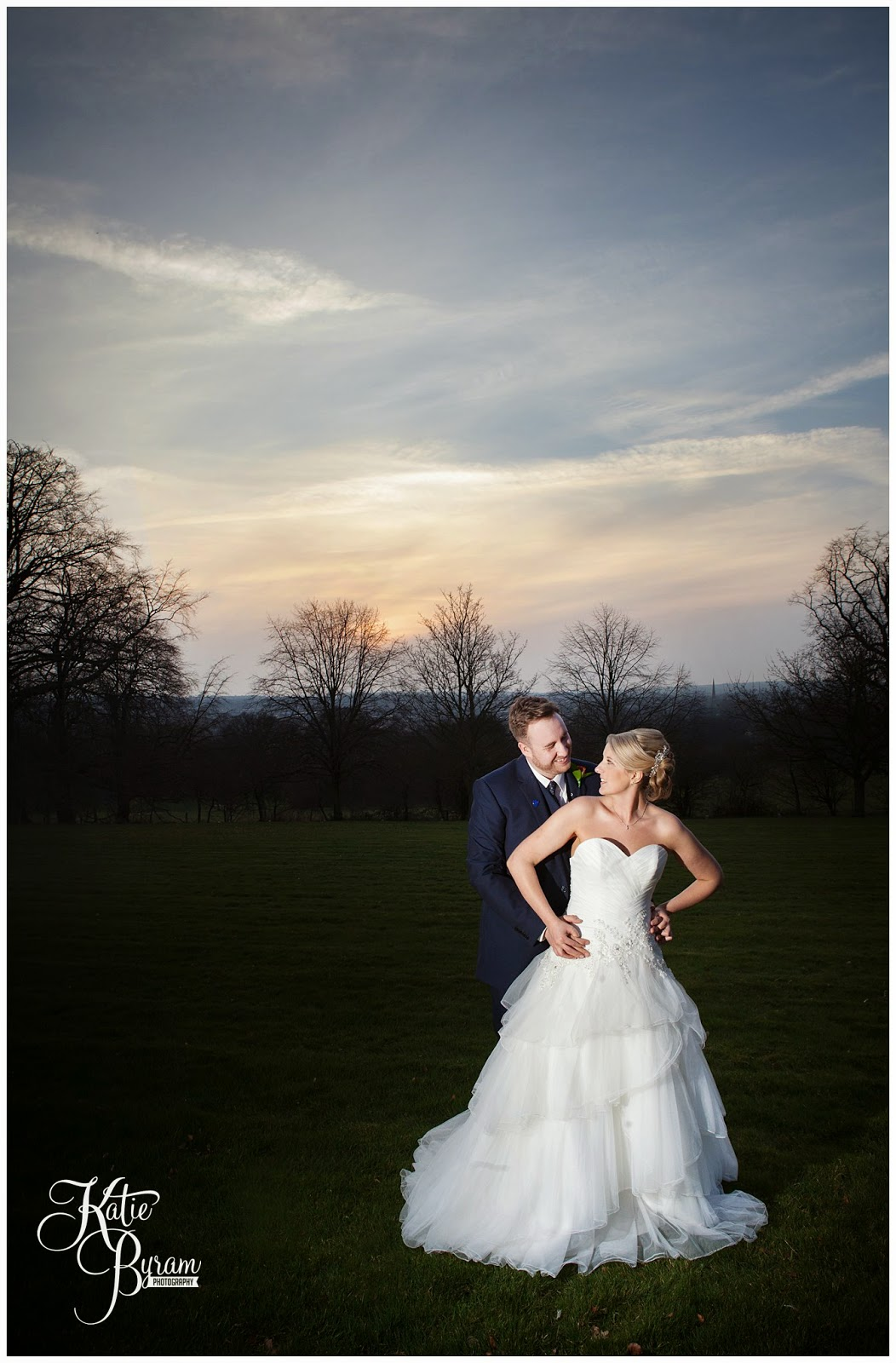 sunset wedding photograph, off camera flash wedding, lumley castle wedding, durham wedding, katie byram photography, diane harbridge, carli peirson make up, the big event make up, wedding venues north east, northumberland wedding, quirky wedding photography, travel themed wedding, castle wedding north east, newcastle wedding, chester-le-street