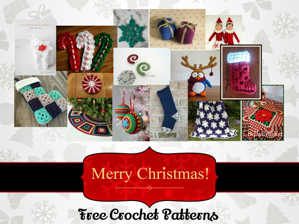 Collection of free crochet Christmas patterns for your home