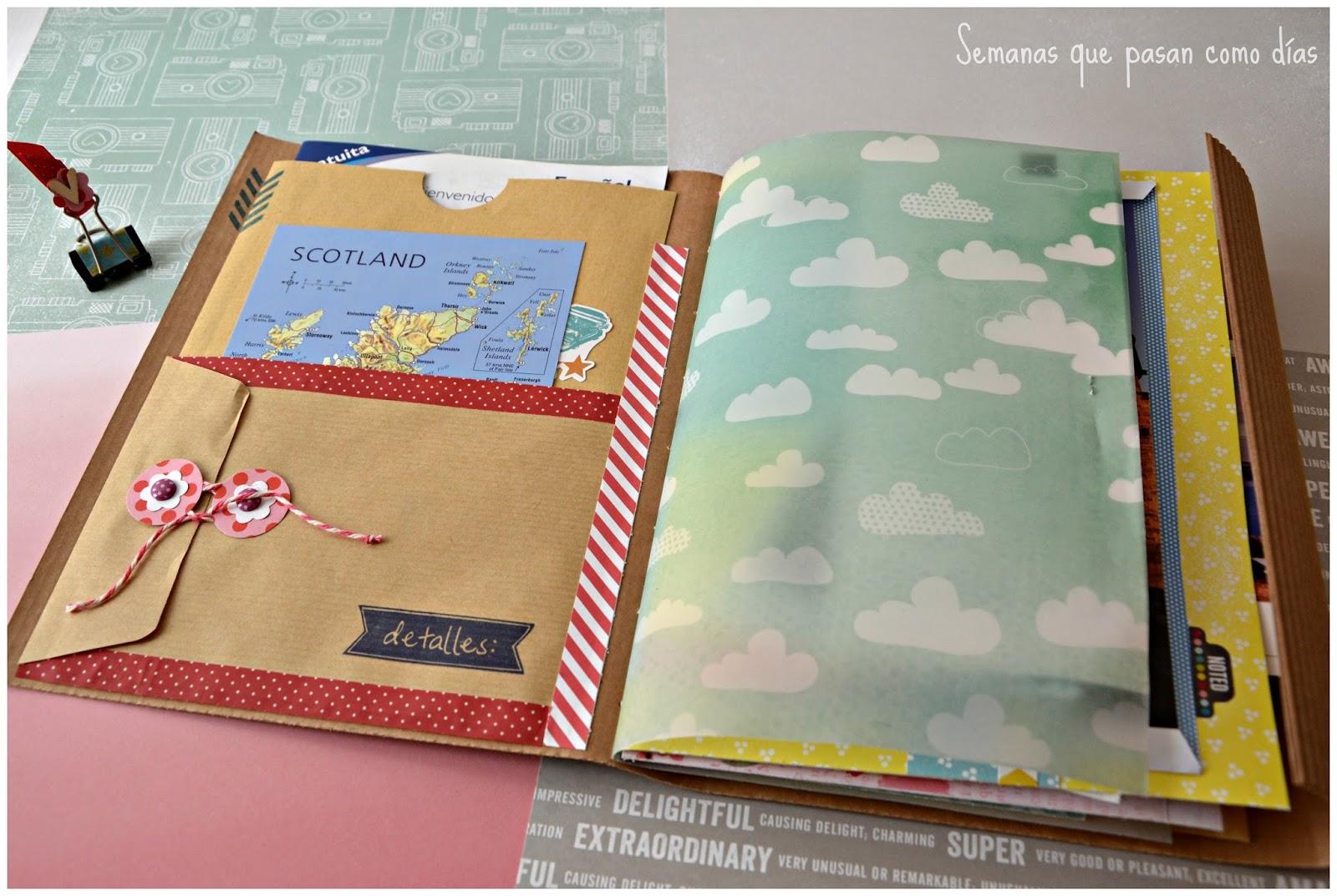 Semanas que pasan como d as viaje a escocia cuaderno lbum de viaje - Decorar album de fotos por dentro ...