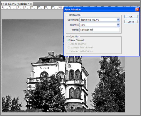 photoshop how to create an alpha channel