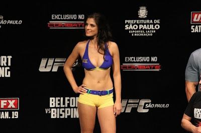 Fotos Da Ring Girl Do Ufc Aline Franzoi Nua Pelada Na Playboy