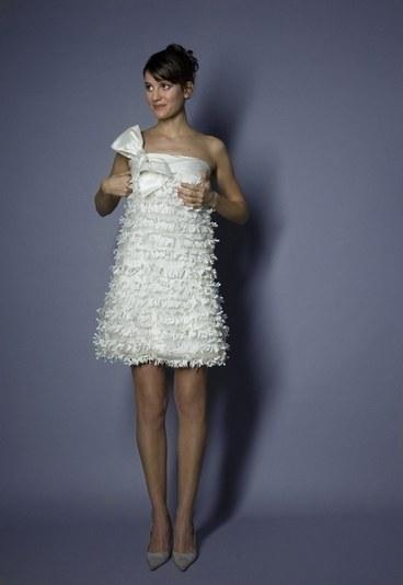 """vestidos de novia cortos. Vestido de Novia """"mil hojas"""""""