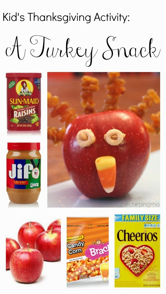 Apple Turkey Snack for Thanskgiving : The Chirping Moms