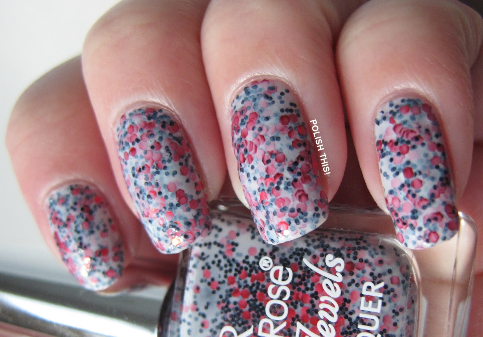 So This Is Golden Rose Jolly Jewels Number 110 And Well Isnt It Great I Thought Was A Really Fun Polish Kind Of Like China Glaze Its Trap Eze