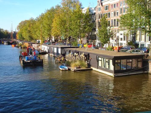 Las casas flotantes de Amsterdam