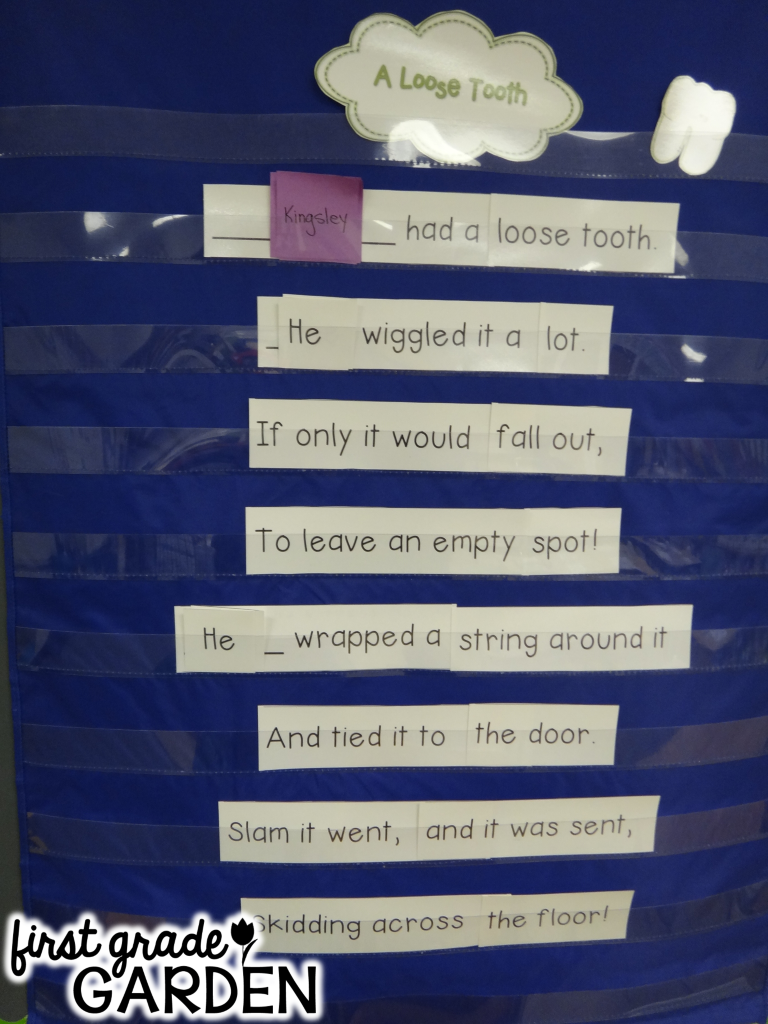 first grade garden daily schedule sight words and poetry phonics