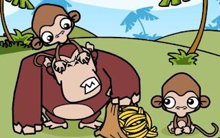 Permainan Lucu Monyet Dengan Pisang